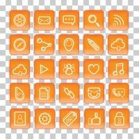 Popular : Collection of social media icons