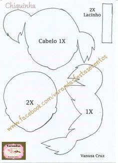 Essa é a turminha do Chaves! Moldes compartilhados por Vanusa Cruz! Parabéns pelo belo trabalho!         Kiko Molde:                 Chiqui...