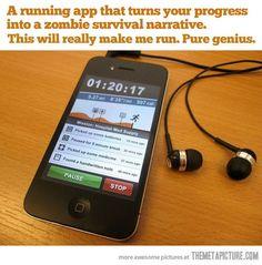 Hahaha!  This could actually make running fun!