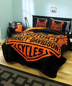 I SO LOVE MY BLANKET ITS JUST LIKE THIS SOOOO SOFTER THAN A SOFTTAIL! LOL!!!Harley-Davidson® Wings Blanket or Sham