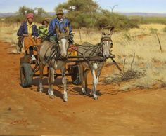 Wildlife Paintings, Wildlife Art, Animal Paintings, Art Paintings, South African Artists, Landscape Photos, Cows, Farm Animals, Painting & Drawing