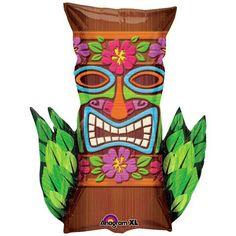 "XL 23"" Tribal Tiki Super Shape Mylar Foil Balloon Hawaiian Luau Party Anagram http://smile.amazon.com/dp/B001QZGYHG/ref=cm_sw_r_pi_dp_3a4dub1VTMEH0"