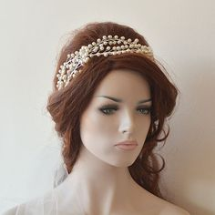 Wedding Hair Wreaths & Tiaras Wedding Tiara Pearl by ADbrdalADbrdal