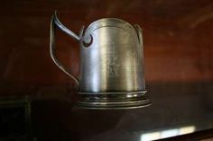 TEEGLASHALTER IM JUGENDSTIL Watering Can, Bronze, Canning, Antiques, Gold Paint, Art Nouveau, Hang In There, Corning Glass, Antiquities