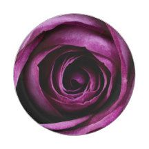 Purple Rose 7 Inch Paper Plate