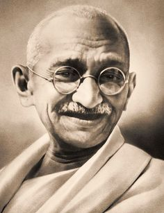 It was because of Gandhi's peaceful civil disobedience campaign that India won independence from Britain in 1947.