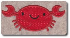 Applique Crab Design Multiple Sizes Included by 8clawsandapaw, $1.95
