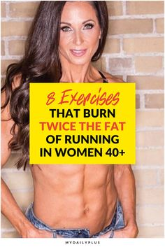 8 Exercises That Burn Twice The Fat Of Running In Women Over 40 Fitness Workout For Women, Fitness Tips, Fitness Motivation, Health Fitness, Weight Loss Meals, Workout Guide, Workout Challenge, Workout Plans, Physique