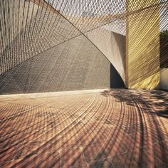 Woven shade structure.