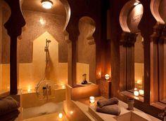 Love this traditional bathroom in Dar Maya in Essaouira Morocco