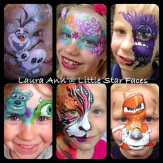 http://www.littlestarcrafts.co.uk - Face painting, disney, Frozen,  Olaf, Monsters university, monsters inc, Planes, Minion, Tiger, Flower, fairy, Face paint, makeup