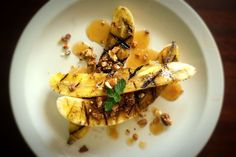 Grilled Bananas with Buttered Maple Sauce and English Toffee. WOW. | Food52