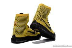 c6b1eaf3ccc2 Men s NIKE KOBE 10 ELITE Coda Nike Flyknit High Top Shoes Home Yellow Kobe  10