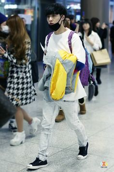 141231- EXO Lay (Zhang Yixing) at Incheon Airport #exom #fashion #style