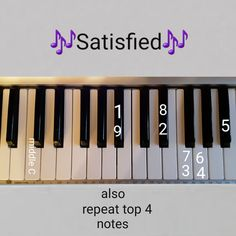 Satisfied Hamilton for piano Piano Sheet Music Letters, Piano Music Notes, Easy Piano Sheet Music, Flute Sheet Music, Hamilton Sheet Music, Musical Hamilton, Song Suggestions, Music Chords, Piano Lessons