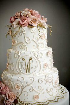 Garden Nouveau, from A White Cake : Cake Gallery - http://www.awhitecake.com/p/cake-gallery.html#