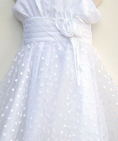 Party Dress in White  #salesuit #cheapsuit #saledress #cheapdress #flowergirldress #tulledress