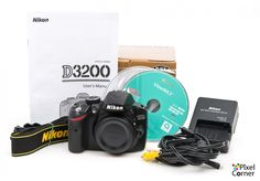 Nikon D3200 Digital Camera Body 24.2MP DSLR Boxed 5378 shots! 6691816