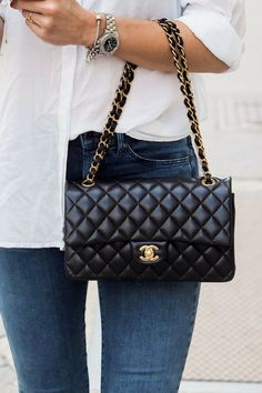 Chanel, Timeless, Chanel Classic double flap bag medium, gold hardware