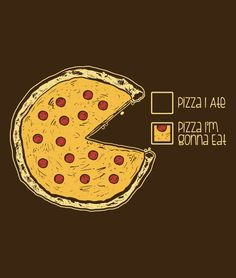 Pizza.  Give me all the pizza.  Pizza pie chart t-shirt.