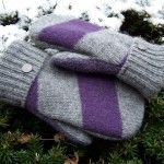 How to make felted wool mittens from sweaters -sewing pattern