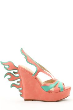 Flame Wedge Shoes