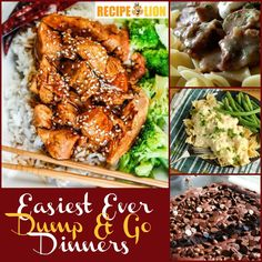 Dump and Go Dinners: 26 Easy Weeknight Dinner Ideas + Bonus Easy Dessert Recipes | These are some of the best easy dinner recipes ever!