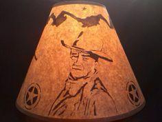 John Wayne Lamp Shade Rustic Design Western by madeincoloradousa, $20.99