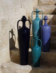 Collezione I Messapi. Realizzata da Scene Mediterranee in collaborazione con lo storico laboratorio Enza Fasano di Grottaglie. [collezione ceramica - decor]