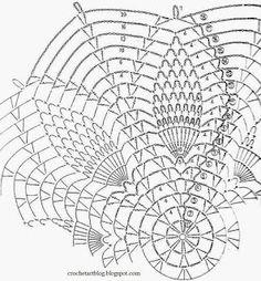 Crochet Art: Crochet Doily Pattern - Beautiful Simple Pineapple Crochet Lace