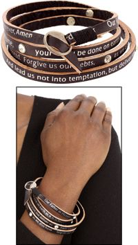 Get beautiful jewelery & know your money is going to a good cause!! Lord's Prayer Wrap Bracelet at The Animal Rescue Site