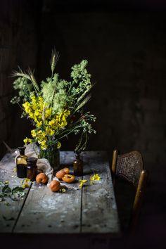 A Saffron & Roasted Elderflower Apricots Semifreddo for #CucinaconZaffy | Hortus Natural Cooking