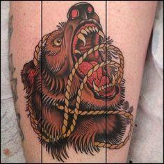 Resultado de imagem para traditional tattoo bear