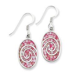 Sterling Silver Pink Shell Earrings