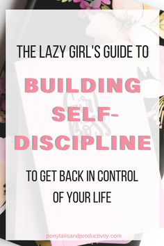 How to Build Self Discipline (the lazy girl's guide) - Ponytails and Productivity If there is one thing successful people have in common, it's that they've mastered the art of self discipline. You can build it! Time Management Tips, Stress Management, Self Development, Personal Development, Leadership Development, Inspiration Entrepreneur, Business Inspiration, Affirmations, Self Discipline