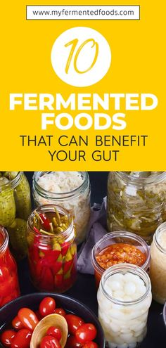 Fermented foods are the heart and soul of many cultures across the world. Let's take a look at 10 popular fermented foods that can benefit your gut health. . . . #MyFermentedFoods #FermentedFoods #Fermentation #PreservingFoods #FermentedVegetables #GutHealth #GutHealthyFoods #Pickles Fermentation Recipes, Canning Recipes, Crockpot Recipes, Vegan Recipes, Probiotic Foods, Fermented Foods, Canning Peaches, Canning Vegetables, Dehydrated Food