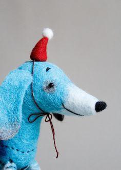 Felt Toy kids gift  Dachshund  Hubert Waldorf by TwoSadDonkeys