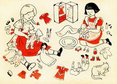 Lois Lenski illustration. I loved her books and illustrations when I was a little girl.