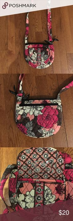 Vera Bradley hipster bag. Vera Bradley cute hipster Cross body bag in pink with adjustable strap.New condition.With front pocket and I.D slot on the front.Two pockets in the inside. Vera Bradley Bags Crossbody Bags