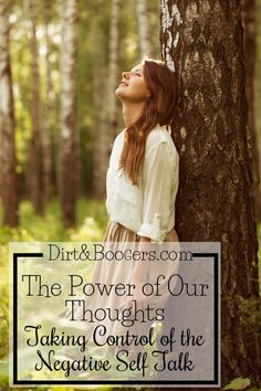 Changing the negative thoughts to positive ones.