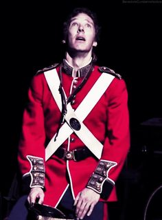 """Benedict Cumberbatch in the Barbican production of Shakespeare's """"Hamlet"""""""