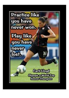 Ready to frame motivational soccer poster. Carli Lloyd inspirational quote. Sport wall art. Nike Soccer Quotes, Motivational Soccer Quotes, Soccer Tips, Nike Quotes, Sport Quotes, Golf Tips, Inspirational Quotes, Citation Football, Foto Poster