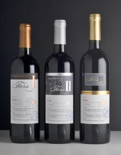Label / Tiers – a range of three Riojas, requiring the same brand identity, but clearly highlighting the individual quality-levels – Harpers Wine & Spirit Design Awards 2009 Silver Medal #taninotanino #vinosmaximum