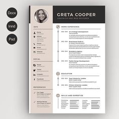 Clean Cv-Resume II by Estartshop on @creativemarket