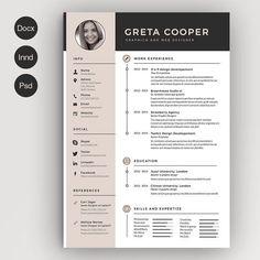 Clean Cv-Resume II by Estartshop on @creativemarket