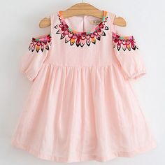 Diva Peachy Cold Shoulder Kids Dress