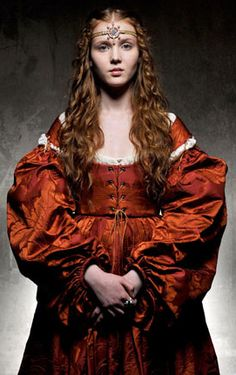 Lucrezia Borgia. Played by Isolda Dychauk is PERFECT in the role. She looks like something straight out of a Botticelli painting and I think she fully captures the essence of Lucrezia.