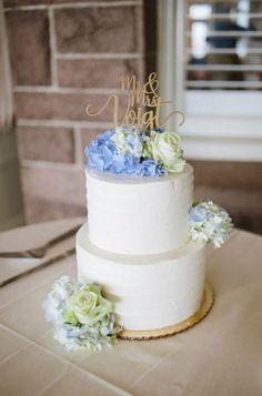 Vintage wedding cake blue flower 52 ideas for 2019 #wedding #vintagewedding