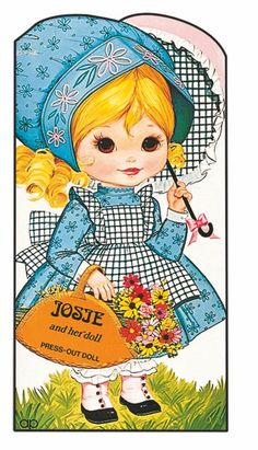 I actually have one of these Josie paper dolls! It's spelt 'Josie' on mine though :) Barbie Paper Dolls, Paper Dolls Book, Vintage Paper Dolls, Vintage Children's Books, Paper Toys, Vintage Stuff, Vintage Cards, Canson, Toddler Learning Activities