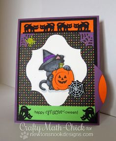 Canines & Card Designs: Newton's Nook Designs' September Release - Day 1  - interactive pumpkin card!